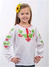 Вышиванка детская для девочки белая женская ТМ Два Кольори 0194