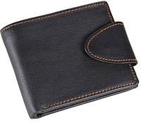 Мужское кожаное портмоне  TIDING BAG 8060A черный