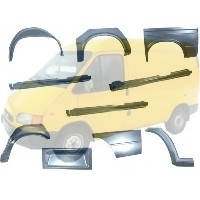 Арки, пороги, крылья, капот Ford Transit Форд Транзит 1994-2000