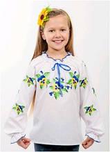 Вышиванка детская для девочки белая женская ТМ Два Кольори 0195