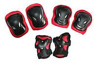 Комплект защиты для роликов, взрослая: L, разн. цвета.