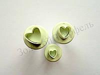 Набор кондитерских плунжеров «Сердца маленькие( мини) 3 шт»