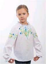 Вышиванка детская для девочки белая женская ТМ Два Кольори 0190