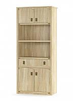 Книжна шкаф 4Д + 1Ш Валенсия Сонома