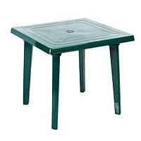 Пластиковый квадратный стол, зеленый