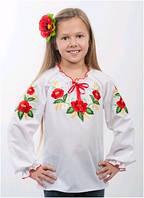 Вышиванка детская для девочки белая женская ТМ Два Кольори 0191