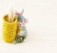 Заяц с деньгами 55х45мм (товар при заказе от 200 грн)