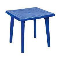 Пластиковый квадратный стол, синий