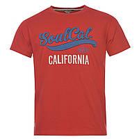 Футболка мужская SoulCal&Co Logo red-orange, фото 1