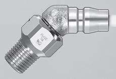 Шарнирный штекер пневмоинструмента с функцией  вращения на 360 град. БРС Rotary Plug CUPLA
