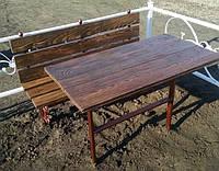 Столы, лавки деревянные на кладбище. Броневик Днепр.