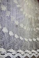 Тюль цветок Fortez, фото 1