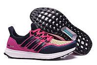 Кроссовки женские Adidas Ultra Boost Navy Pink (в стиле адидас) розовые