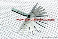 Щупы для регулировки зазоров клапанов  0,02-1,00mm, к-кт