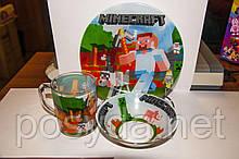 """Набор детский """"Minecraft"""" (стекло), 3 пр."""