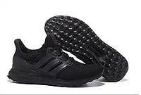 Кроссовки мужские Adidas Ultra Boost All Black (адидас) черные