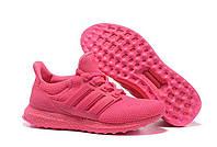Кроссовки женские Adidas Ultra Boost All Pink (адидас) розовые