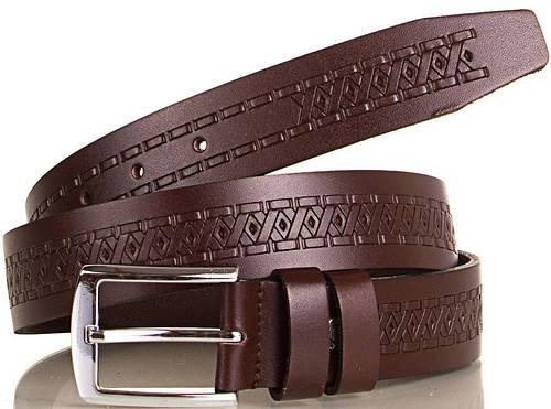 Практичный стильный мужской ремень из натуральной кожи Y.S.K. (УАЙ ЭС КЕЙ) SHI3036-10 коричневый