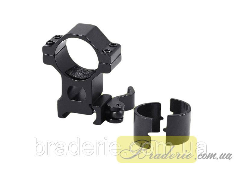 Кольцо для оптического прицела Кр-KC04-d=25.4-30.0mm-Weaver