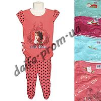Котоновый летний костюм для девочек D1 (4-7 лет) оптом со склада в Одессе