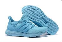 Кроссовки женские Adidas All Light Blue (в стиле адидас) голубые