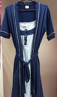 Комплект ночная сорочка женская с халатом Турция размер L , фото 1