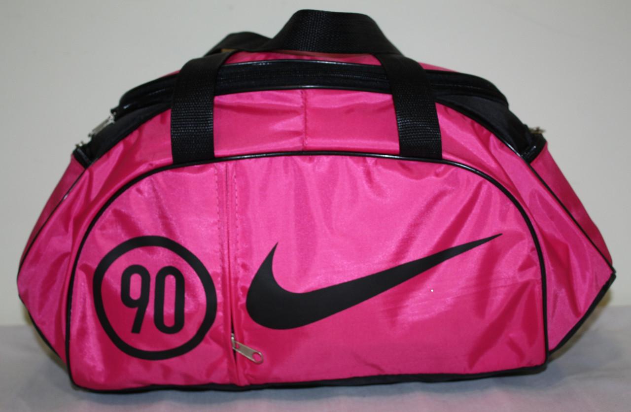 Сумка спортивная Nike розовая черная