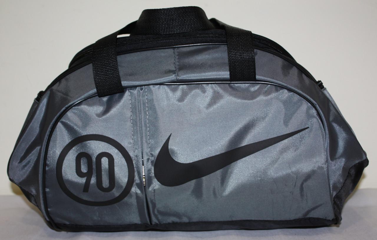 Сумка спортивная Nike серая черная