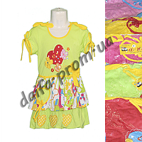 Котоновое платье для девочек H5 (3-7 лет) оптом со склада в Одессе