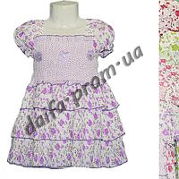 Котоновое платье для девочек KT1 (3-7 лет) оптом со склада в Одессе