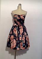 Платье женское летнее пышное миди в стиле Dolce&Gabbana атлас с открытыми плечами вечернее яркое черное в цвет