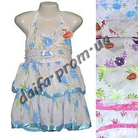 Котоновое платье для девочек KT3 (4-7 лет) оптом со склада в Одессе