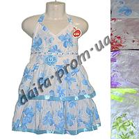 Котоновое платье для девочек KT4 (4-7 лет) оптом со склада в Одессе