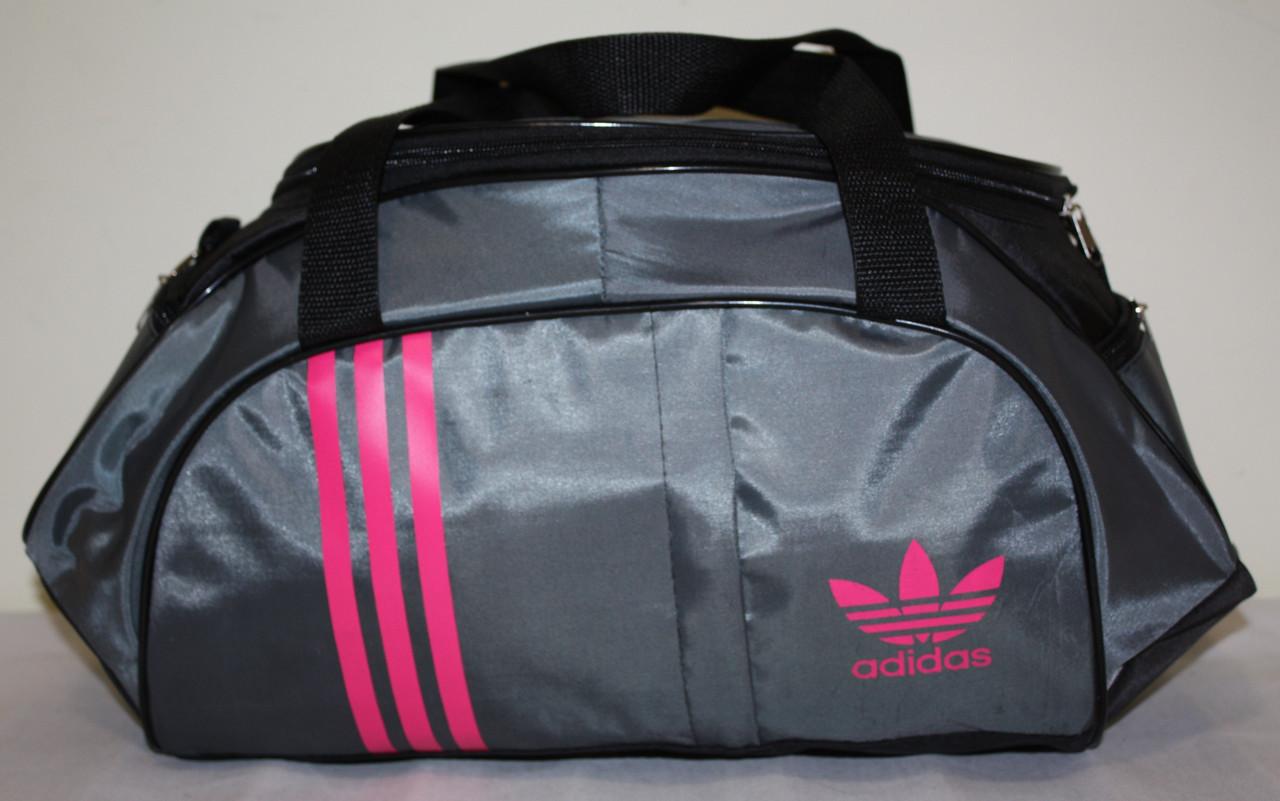 Сумка спортивная Adidas серая розовая