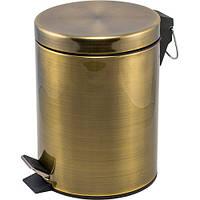 Ведро для мусора бронзовое Pacini&Saccardi Oggetti Appoggio 21A 3л