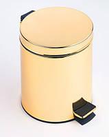 Золотое ведерко для мусора Pacini&Saccardi 21B 5л