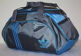 Сумка спортивная Adidas серая голубая, фото 2