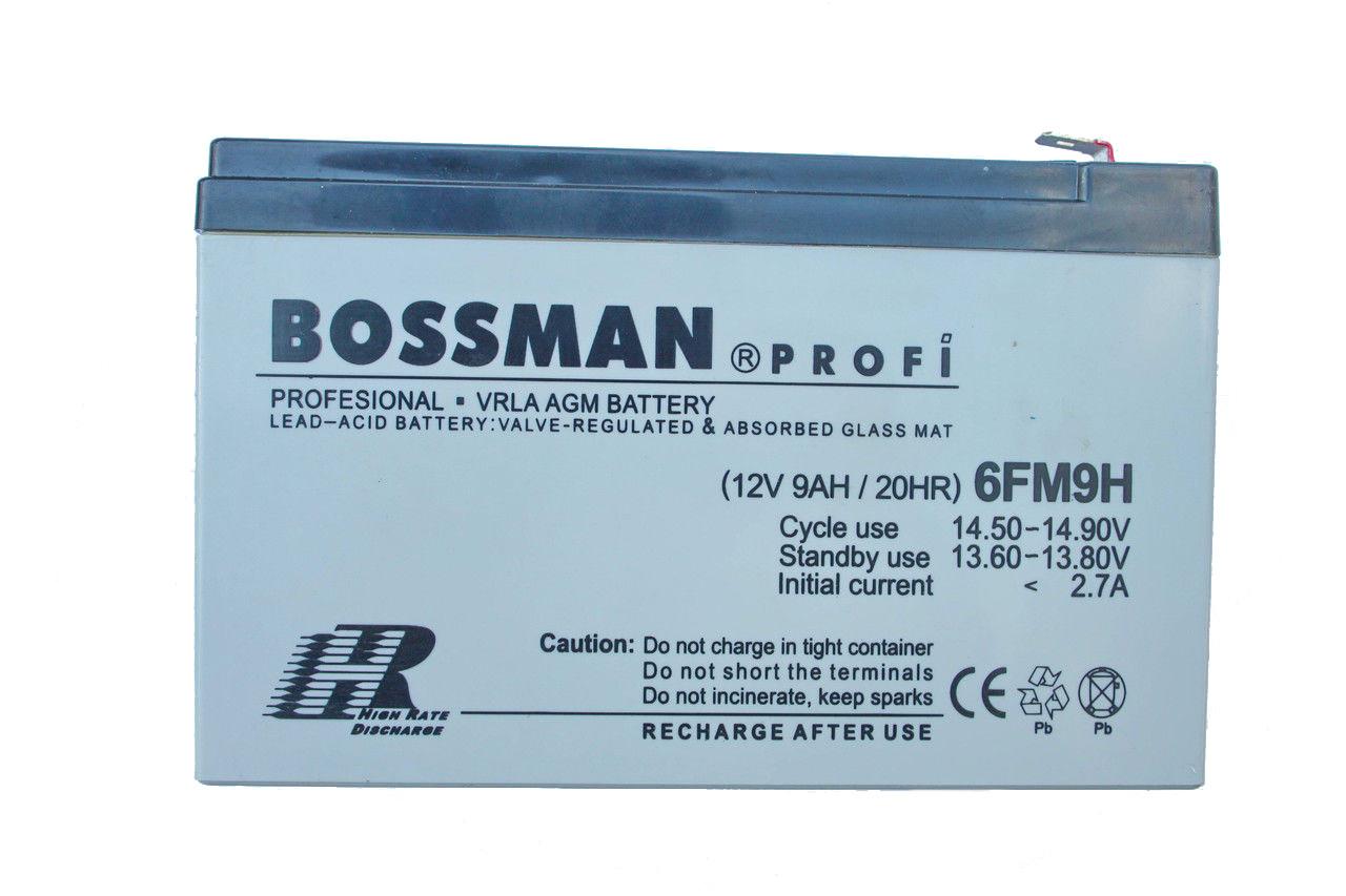 Аккумулятор Bossman 12V 9A, фото 1