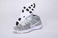 Кроссовки мужские  Nike Lunar Flyknit Chukka (в стиле найк) серые, фото 1