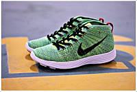 Кроссовки мужские  Nike Lunar Flyknit Chukka (найк) зеленые