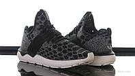 Кроссовки мужские Adidas Tubular Runner Primeknit Stone Black (адидас, оригинал) черные