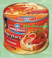 Консерва Paprykarz szczęciński z łososiem Amerigo 330г рис с лососем