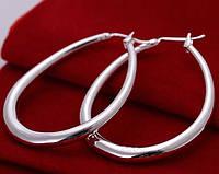 Большие серебренные серьги  груша 925, фото 1