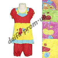 Котоновый летний костюм для девочек N11 (1-3 года) оптом со склада в Одессе
