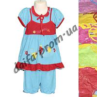 Котоновый летний костюм для девочек N14 (1-3 года) оптом со склада в Одессе