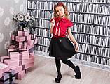 Красная школьная блузка Моне р-ры 134,140,146, фото 2