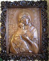 Элитные резные иконы. Икона Владимирской Божьей Матери