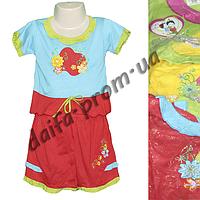 Котоновый летний костюм для девочек T1 (1-3 года) оптом со склада в Одессе