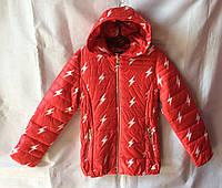 Куртка ветровка подростковая для девочки 7-12 лет,красная