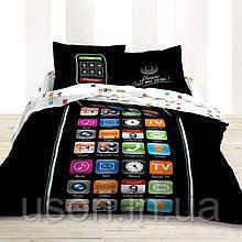 Комплект постельного белья  le vele сатин размер евро IPHONE